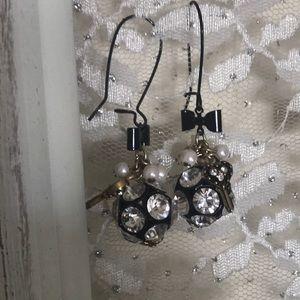 Hanging ball Betsey Johnson earrings
